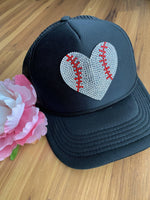Bling baseball hats! Trucker • Adjustable snapback - Stacy's Pink Martini Boutique