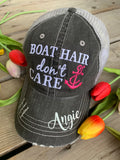 Hats { Lake hair don't care } { Happy Camper } { River hair don't care } { Beach hair don't care } { Tailgate hair don't care } - Stacy's Pink Martini Boutique