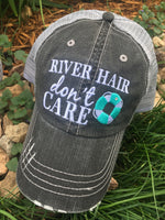 Hat { RIVER hair don't care } Pink, teal, yellow, coral~FLOATIE OR pink, blue~ANCHOR.