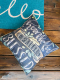 Pillow or pillowcases { Thankful Grateful Blessed } 17 x 17 burlap zipper closure. - Stacy's Pink Martini Boutique