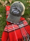 Mom hats! Dont mess with Mama | Embroidered distressed womens trucker cap | 4 colors!  Black • Wine • Light pink • Teal | Mama bear | Mommin ain't easy | Tired as a mother - Stacy's Pink Martini Boutique