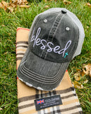 HOT MESS just doing my best hats Embroidered gray distressed unisex trucker caps Womens gift - Stacy's Pink Martini Boutique