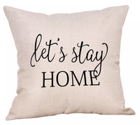Pillow cases and pillows filled • Stay • Sit • Black • Cream - Stacy's Pink Martini Boutique