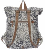Myra • Fold-over backpack • Recycled • 16 x 23.5 • Premium leather - Stacy's Pink Martini Boutique