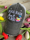 Teacher hats and socks. Teach. Teacher hair dont care. Gray distressed trucker cap with adjustable Velcro and hole for pony • Apple. Teach. Inspire. Socks. - Stacy's Pink Martini Boutique