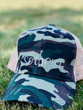 Hat { Sota girl } Camouflage. Other colors available. Wholesale also available. - Stacy's Pink Martini Boutique
