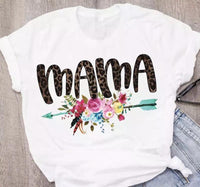 Mama T-shirts | Floral | Arrow | S - 3 XL - Stacy's Pink Martini Boutique