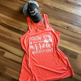 Follow your arrow tank tops •• Coral, teal, black, white, light brown and dark gray •• S - XXL - Stacy's Pink Martini Boutique