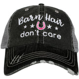 Barn hats!  ~ Barn hair dont care ~ Embroidered ~ Trucker cap ~ Horseshoes ~ 3 colors. - Stacy's Pink Martini Boutique
