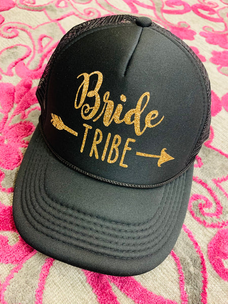 Wedding hats { Bride tribe } { Bride } { Groom } { Team bride } { Squad } Personalize! - Stacy's Pink Martini Boutique