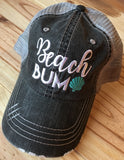 Hats { Beachaholic, Beach hair don't care, Resting beach face, Where my beaches at, Beach bum }