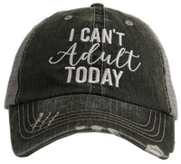 I can't adult today | Clothing & hats | T-shirts • Pink, blue or gray • S -XXL - Stacy's Pink Martini Boutique