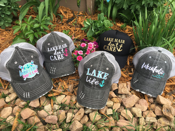 Hats OR tanks { Lake hair don't care } Hat~Teal, pink, purple or coral anchor. Tanks~Teal, navy blue, coral or black.