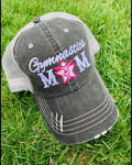 Gymnastics hats! Gymnastics mom | Womens trucker baseball style hat | Customize names-numbers-BLING! - Stacy's Pink Martini Boutique