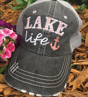 Hats and clothing { I'm on lake time } Black • S - 3XL • Tank tops - Stacy's Pink Martini Boutique