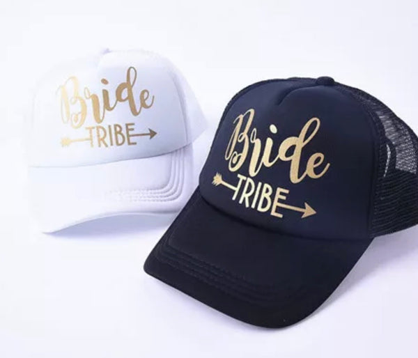 Hats { Bride tribe } { Bride } { Groom } { Team bride } { Squad }. I can customize with names and dates. - Stacy's Pink Martini Boutique