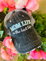 Mom hats! Mom life is the best life • Womens embroidered trucker cap - Stacy's Pink Martini Boutique