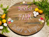 Custom wood signs & tray. Hand painted by Stacy. They are not vinyl. They are one of a kind pieces with blended and stains and hand done! - Stacy's Pink Martini Boutique