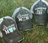 Hats { Lacrosse Mom } { Lacrosse hair don't care }