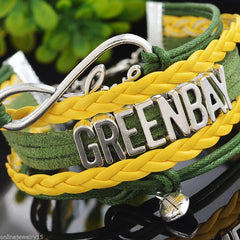 Bracelet {Packers OR Green Bay} Green.yellow.white.silver 2 OPTIONS! Packers or Green Bay