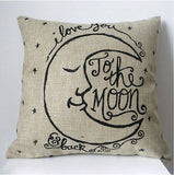 Pillow or pillow case { I love you to the moon and back } - Stacy's Pink Martini Boutique