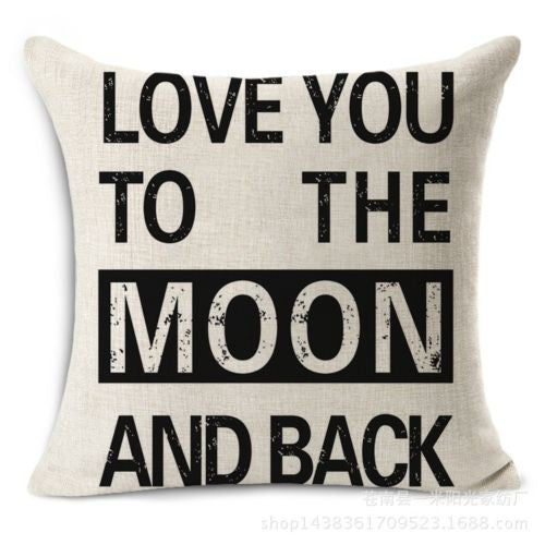 Pillow {Love you to the moon and back}
