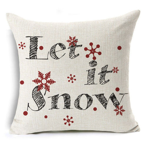 Pillow { Let it snow } Pillow or case.