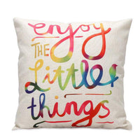 Pillow {Enjoy the little things} - Stacy's Pink Martini Boutique