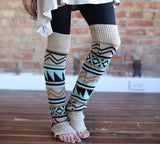 Leg Warmers. Brown, blue, black. My most loved leg warmers! 21 inches. - Stacy's Pink Martini Boutique