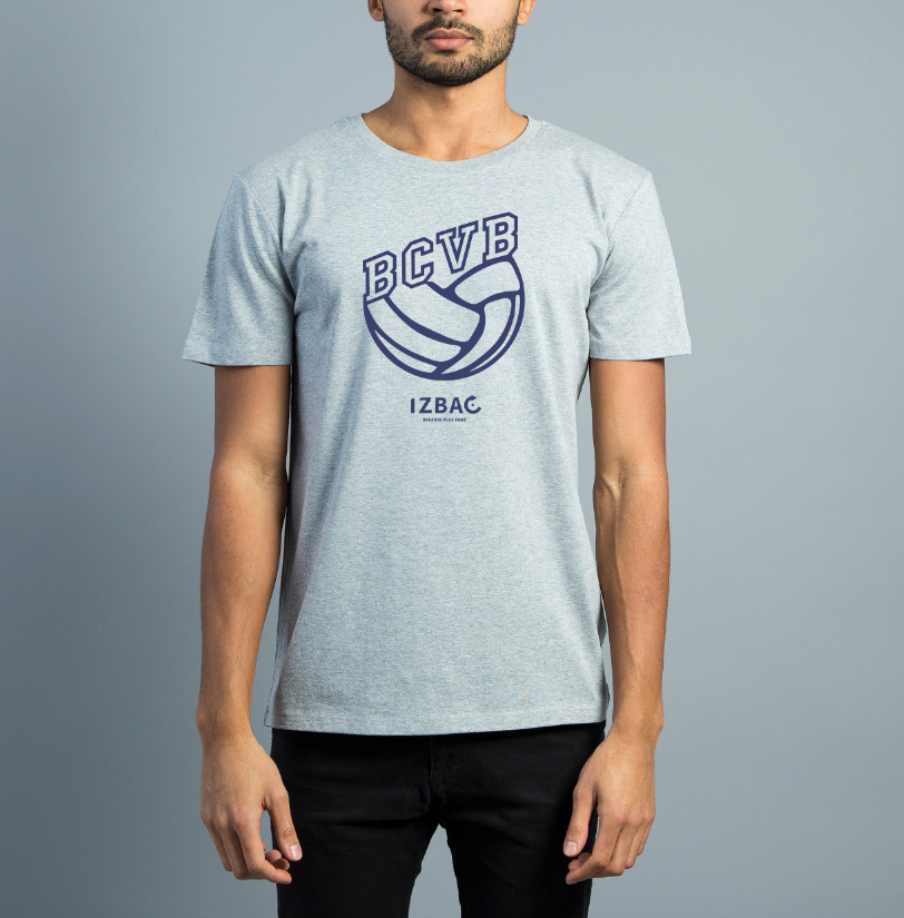 BCVB Tee-shirt Gris Homme manches courtes