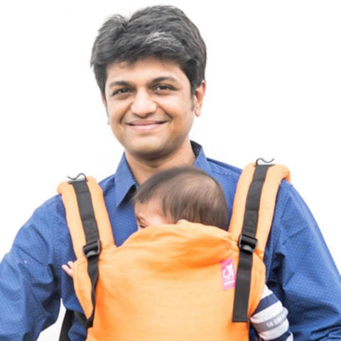 Image of Anmol Basic Orange handwoven SSC Baby Carrier
