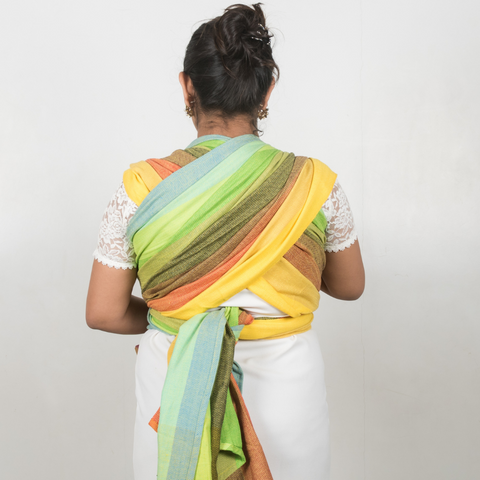 Image of Reyansh Yellow Weft Handwoven Baby Wrap