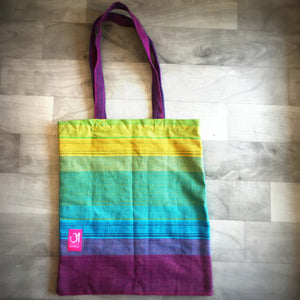Saptrangi V-Tote Bag (Violet to Green)
