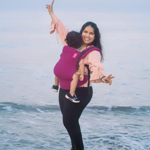 Image of Anmol Basic Hand-woven Magenta SSC Baby Carrier