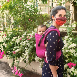 Anmol Basic Handwoven Magenta SSC Baby Carrier