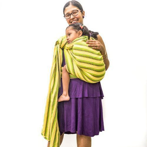 Image of Dilwale Yellow Weft Handwoven Baby Wrap