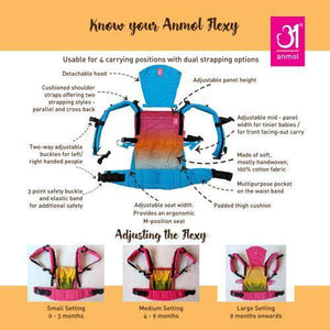 Flexy Aquarelle  +Lumbar Support +Droolers +Blanket set +Nursing Scarf +Set of toys +Soft soles +Online babywearing consult +KangaTraining Session + PostNatal workout with Sama Birthing