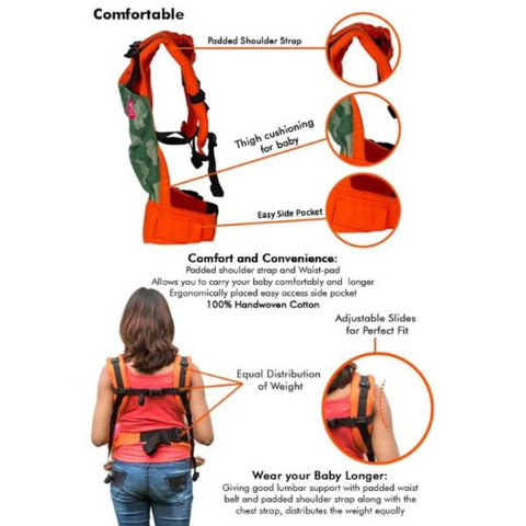 Image of Rickshaw Warm Orange Semi WCSSC Baby Carrier