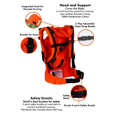 Image of Hasti Orange Semi WCSSC Baby Carrier