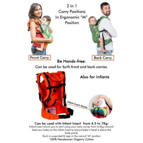 Rickshaw Warm Orange Semi WCSSC Baby Carrier