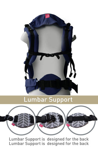 Image of Navy Blue Lumbar Support