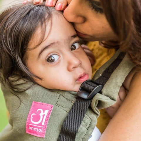Anmol Easy Olive Baby Carrier