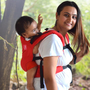 Anmol Basic Handwoven Red Baby Carrier