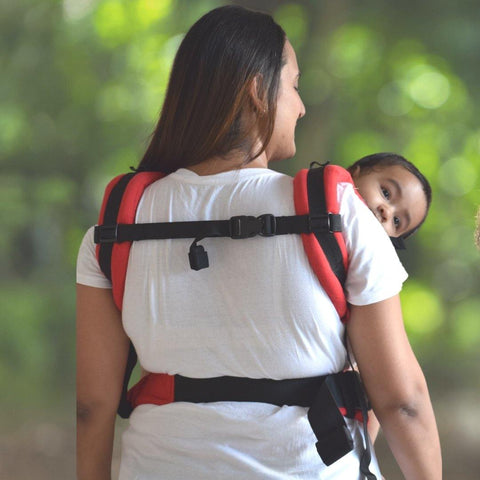 Image of Anmol Basic Handwoven Red Baby Carrier