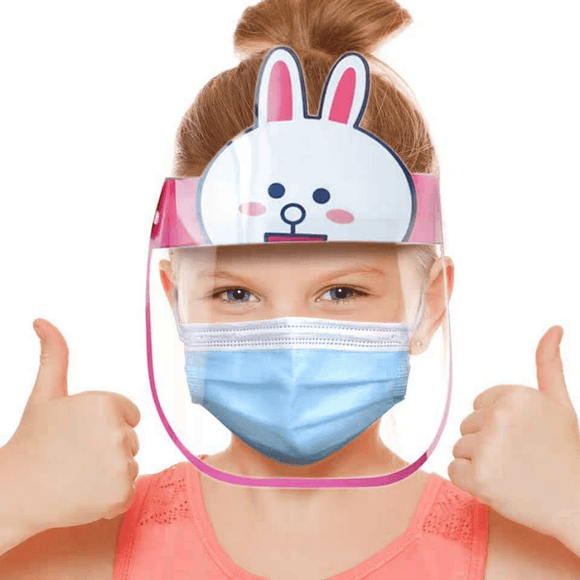 BUY 2 Get 1: Kids Face Shield - Elastic Band/ Glasses Type