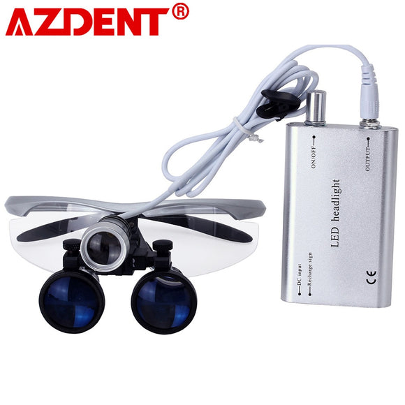 AZDENT 3.5X Magnification Binocular Dental Loupe