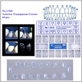 AZDENT Adult Dental Anterior Transparent Crown Set