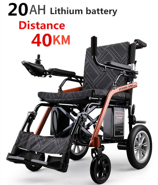 GZANBANJIA Folding Motorized Wheelchair