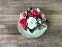 Load image into Gallery viewer, Pink and Silver Paper Flower Teacup Bouquet