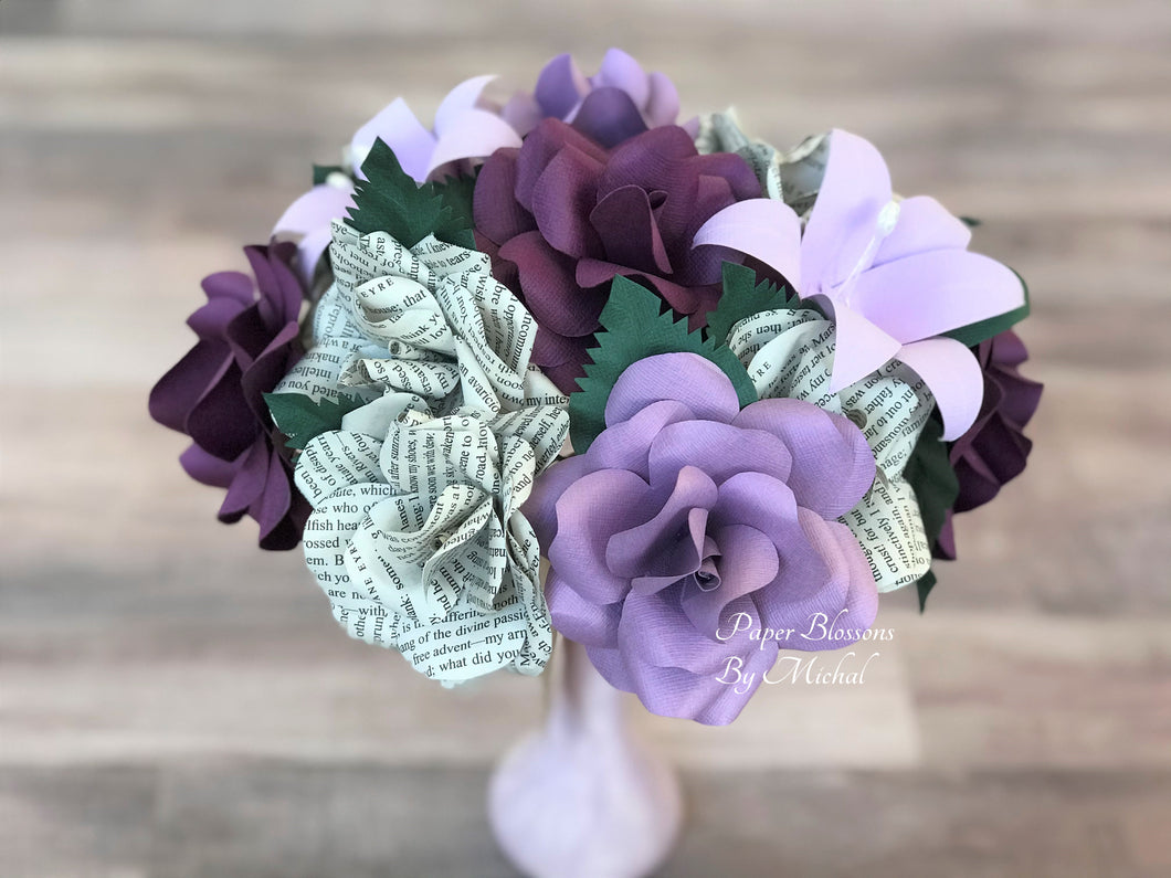 Jane Eyre Book Page Bouquet